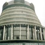 The 'Beehive' New Zealand Parliament