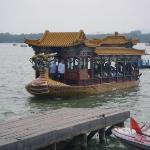 Summer Palace: For those that don't want to walk around the lake you can take a dragon boat to s