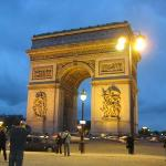 Arc de Triomphe.. very cool, great views, HUGE