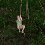 Swinging on a vine