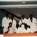 Blacks in White :) After Sauna in Debrecen - Hungary 2002