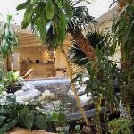 Lobby water feature.