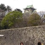First view of Osaka Castle.