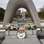 The Peace Park Memorial, Eternal Flame and Atomic Bomb Dome.
