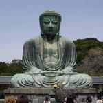 The giant bronze buddha at Kamakura.