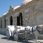 Horse carriage in Chania old harbor