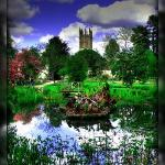 The University of Oxford Botanic Garden and the 500-year-old Magdalen Great Tower
