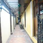 The laneway leading to the entrance