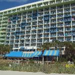 pic of the hotel from the beach