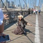 There was a fashion shoot being shot when we were walking over the bridge.  I snapped a photo fo
