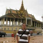 in front of royal palace