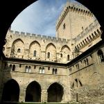 Inside one of the courtyards of Palais des Papes