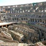 Inne i Colosseum