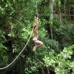 Swinging out over the cenote...so much fun I didn't like 10 times!