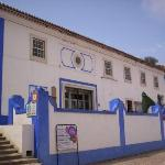 Many of the buildings in Obidos are whitewashed and then highlighted with vibrant blue or yellow