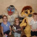 Rafiki, Timon, and the Three Monkeys