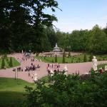 Peterhof is set in a really huge garden... big, big garden. We walked for hours and didn't see i