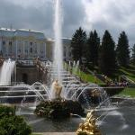 The cascades at Peterhof, Peter the Great's Palace... the Russian Versailles.