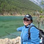 Love at the 1st Sight of this lake near Jade Dragon Snow Mountain in Li Jiang..