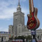 Palacio de la Cultura en Varsovia y el Hard Rock