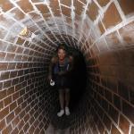 En el tunel de alcantarilla del Museo del levantamiento de Varsovia