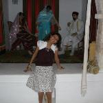 GUELLALA Museum: scene of the 1st day after wedding: the bride jumps upon eggs, this might bring