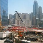 """Ground Zero"" - construction on the memorial park, museum and the new building, ""One World Trade"