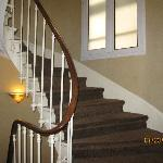 The main winding staircase that reaches all floors