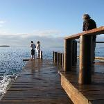 The jetty to snorkel from