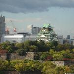 部屋から見た大阪城です