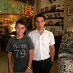 With Hamza, member of the very friendly staff