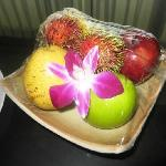 fruit delivered to our room
