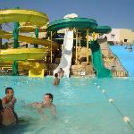 partie piscines avec tobogant