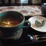 仁寺洞のカフェにて。