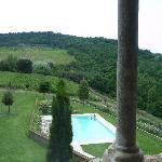 piscina vista dal soggiorno