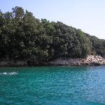Coast south of Rabac (from boat)