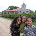 girls at Houma church