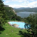 View from Parador across pool and reservoir