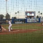 Cashman Field - View from row 3 behind home plate