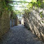 Walkway from the gatehouse to the garden
