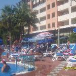 pool/sunbed area