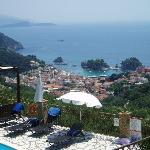 Parga Town from the villa