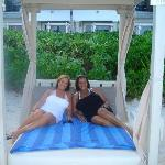 WITH MY BEST FRIEND RELAXING ON 1 OF OUR 2 PRIVATE CABANAS :)