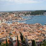 View across Rovinj from St Euphamia bell tower