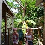 Ma fille et moi sur la terrasse