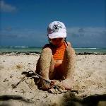 Ma fille a la plage de Bois Jolan