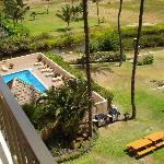 Pool and BBQ lookingdown to the left from 502