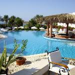Top half of hotel pool
