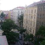 View from the room. The Budecska Street is a quiet street, formed by mostly 19th century residen