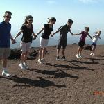 It's windy on top of Mount Etna